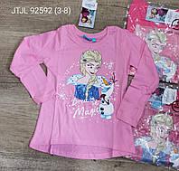 Реглан для девочек оптом, Disney, 3-8 см,  № 92592