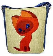 Джинсовая сумка КОТЕНОК ГАВ, фото 1