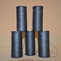 Нить обувная 70 метров, вощеная, темно-серая, диаметр нити: 0,8мм