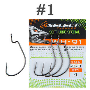 Крючок Офсетный Select WH-91 #1 (6 шт/уп)
