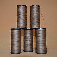 Нить обувная 70 метров, вощеная, коричневая, диаметр нити: 0,8мм
