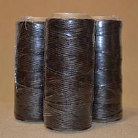 Нить обувная вощеная коричневая, 100м, диаметр нити: 1.0мм, пр-во Италия