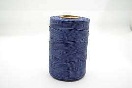Нитка вощенная плоская 500м толщина 1mm цв.темно синий