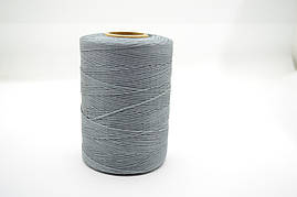 Нитка вощенная плоская 500м толщина 1mm цв.серый
