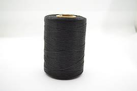 Нитка вощеная плоская 500м толщина 1mm цв.черный