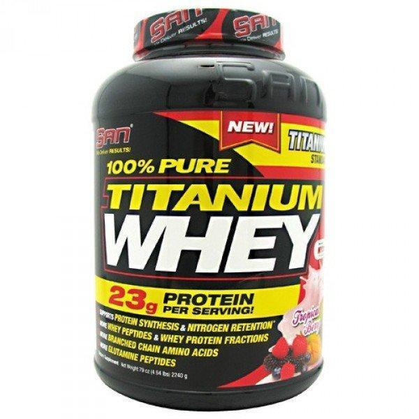 Протеины SAN 100% Pure Titanium Whey (942 г)