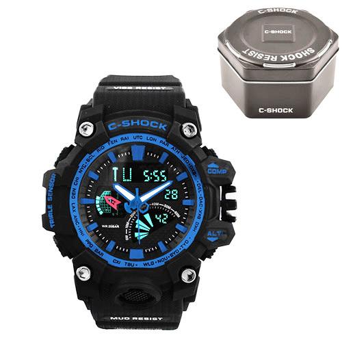Часы наручные C-Shock GW-3000 Black-Blue+Box