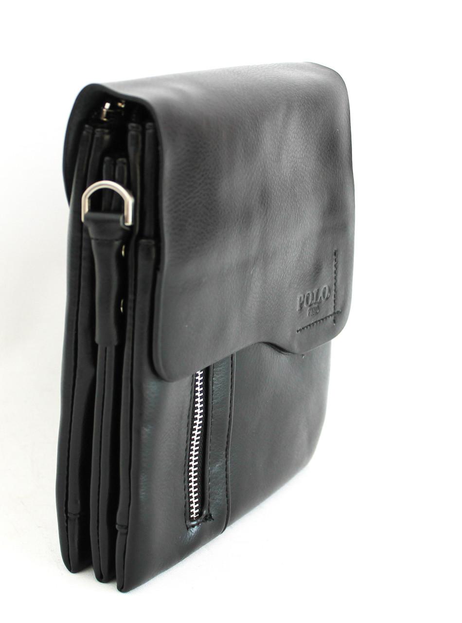 Мужская сумка-планшетка, барсетка из кожзама Polo B825-3