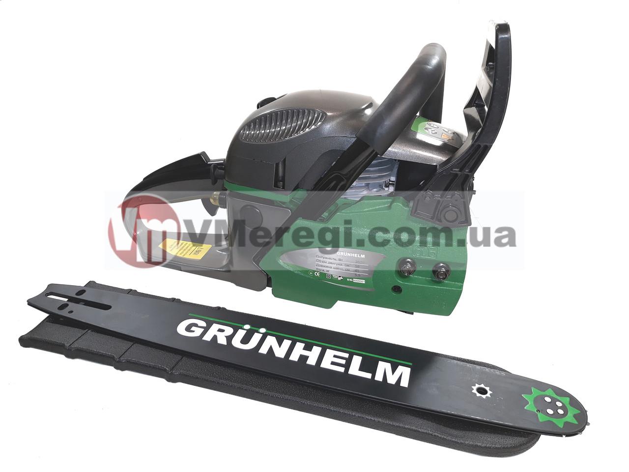 Бензопила цепная Grunhelm GS62-18/2 Professional (2 цепи, 2 шины)