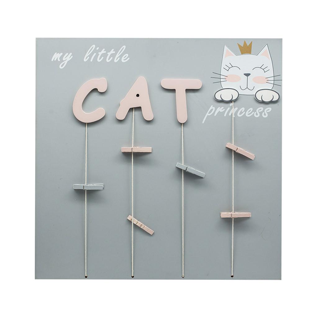 Доска для фото и записей серая Cat 40см 108755