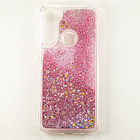Чохол Glitter для Xiaomi Redmi Note 8 Бампер Рідкий блиск зірки рожевий
