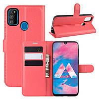 Чехол IETP для Samsung Galaxy M30s 2019 / M307 книжка кожа PU красный