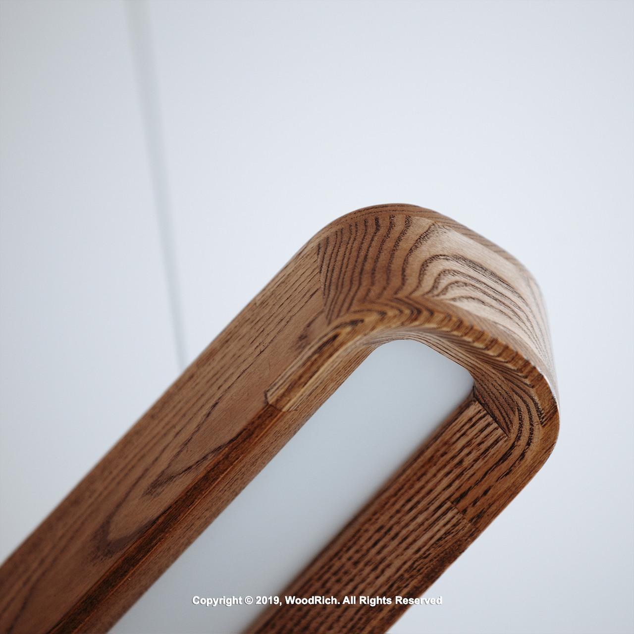 Люстра деревянная светодиодная RecRo