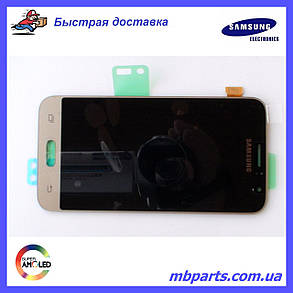 Дисплей с сенсором Samsung J120 Galaxy J1 Gold оригинал, GH97-18224B, фото 2