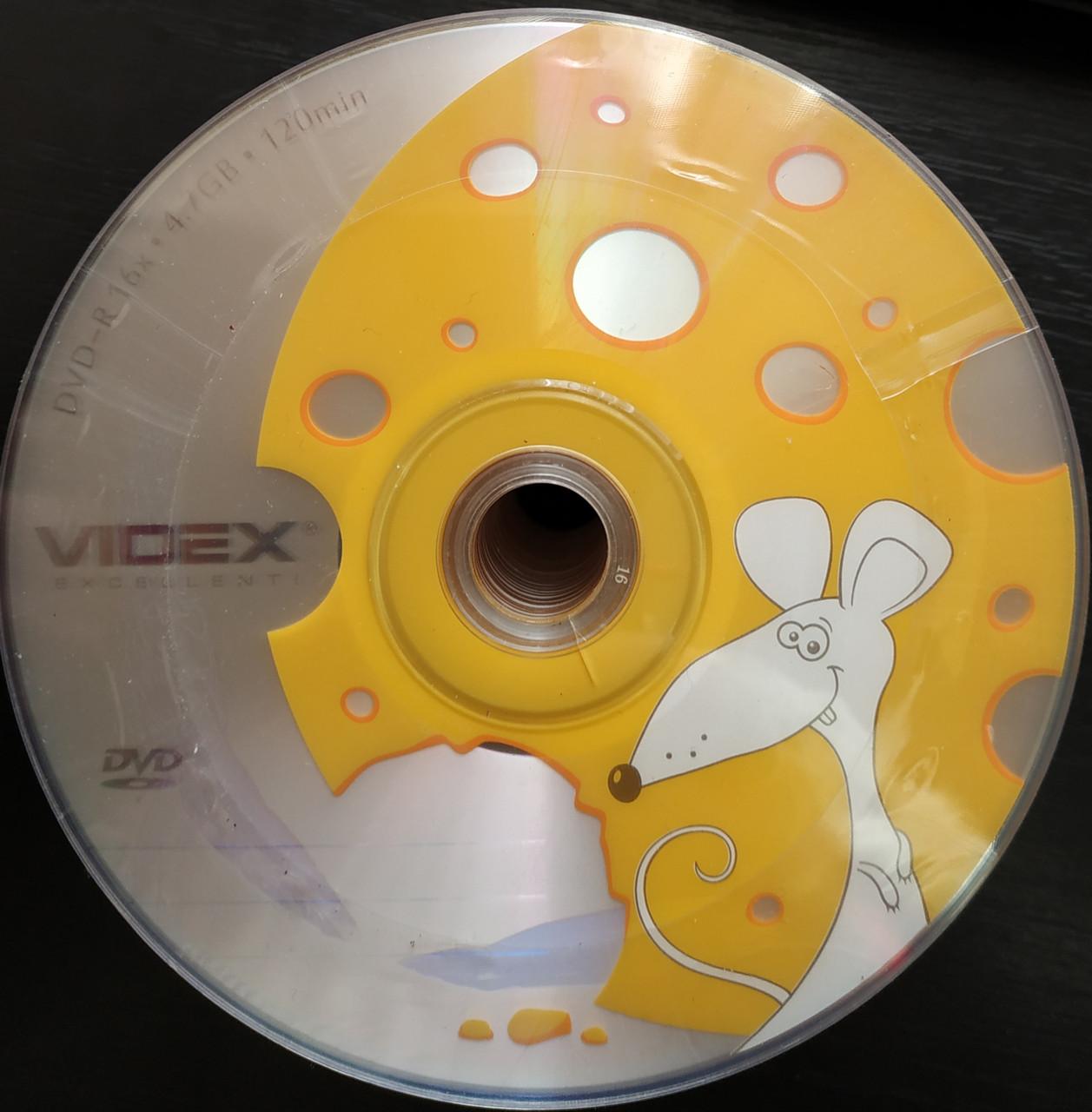 DVD  + R Videx 16 х (50 шт ) новогодние год крысы
