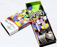 Набор Детских Столовых Приборов (ложка+вилка)  Микки Маус, фото 1