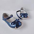 Нарядные детские синие туфли на каблучке девочкам, праздничные, комфортные, фото 7