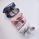 Нарядные детские синие туфли на каблучке девочкам, праздничные, комфортные, фото 9