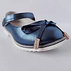 Нарядные детские синие туфли на каблучке девочкам, праздничные, комфортные, фото 8