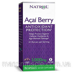 Антиоксидант Natrol Acai Berry 1000 mg 75 caps