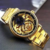 Мужские часы Forsining Legend Gold - механика с автозаводом