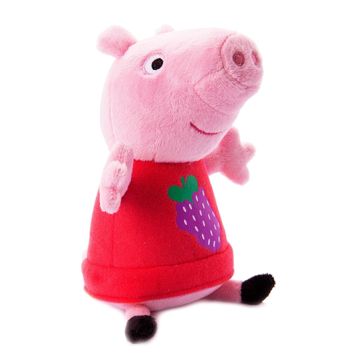 М'яка Іграшка - Пеппа з вишитими Виноградом (20 см)