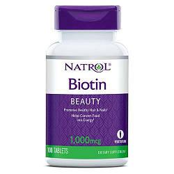 Биотин Natrol Biotin 1000 mcg 100 tabs