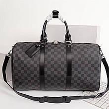 Дорожная сумка Луи Витон, Damier Graphite 50 см, кожаная реплика