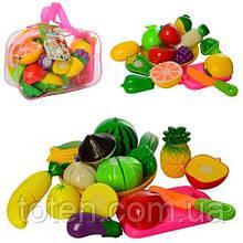 Продукти 2018 А фрукти, овочі, на липучці, тарілка, дощечка, ніж. В сумці. 2 види