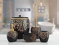 Комплект в ванную Irya - Flossy черный (5 предмета)