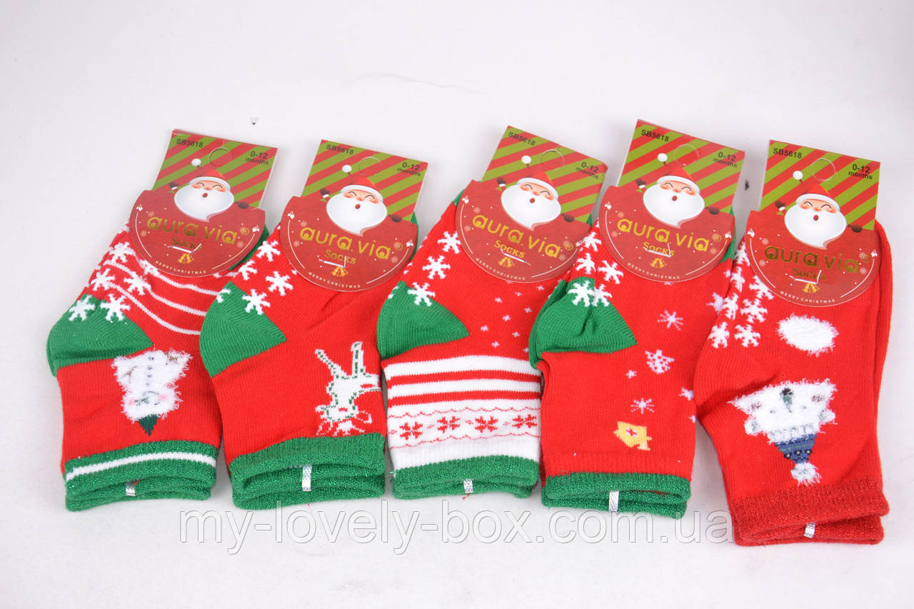 "ОПТОМ.Детские носки с рисунком ""AURA"" Cotton (Арт. SB5618/0-12)   5 пар"