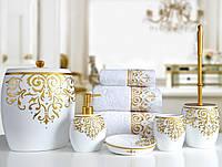Комплект в ванную Irya - Flossy белый (5 предмета)