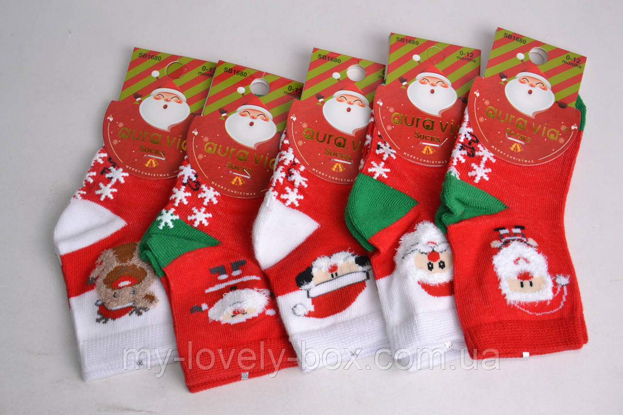 "ОПТОМ.Детские носки с рисунком ""AURA"" Cotton (Арт. SB1680/0-12) | 5 пар"
