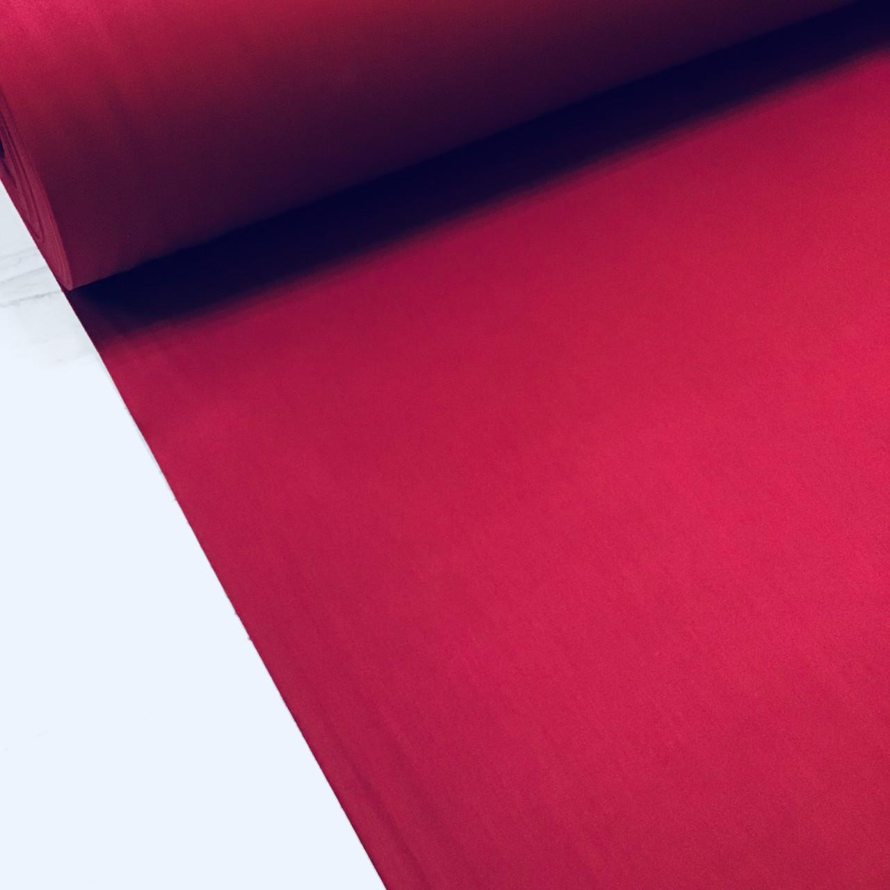 Сатин вишневый для постельного белья, мерсеризованный (ТУРЦИЯ) ОТРЕЗ (размер 0,68*2,4м)
