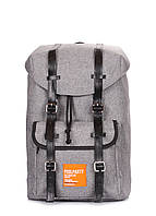 Серый рюкзак с ремнями Hipster