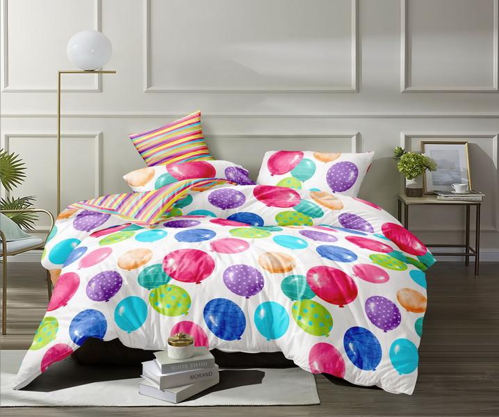 Полуторный комплект постельного белья «Веселые шарики» 147х217 из сатина