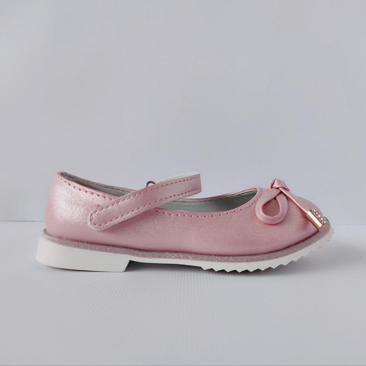 Праздничные розовые туфли на каблучке девочкам, р. 29, 31 , Нарядные и удобные