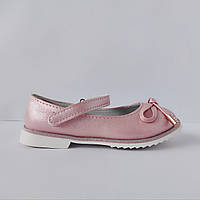 Праздничные розовые туфли на каблучке девочкам, р. 26, 27, 28, 29, 30, 31 , Нарядные и удобные