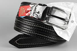 Ремінь шкіряний джинсовий King Belts 45 мм із декоративною строчкою