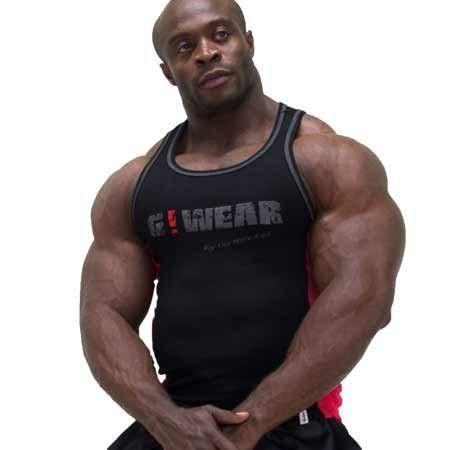 Мужская майка Gorilla wear G!WEAR rib tanktop (Black/Red)