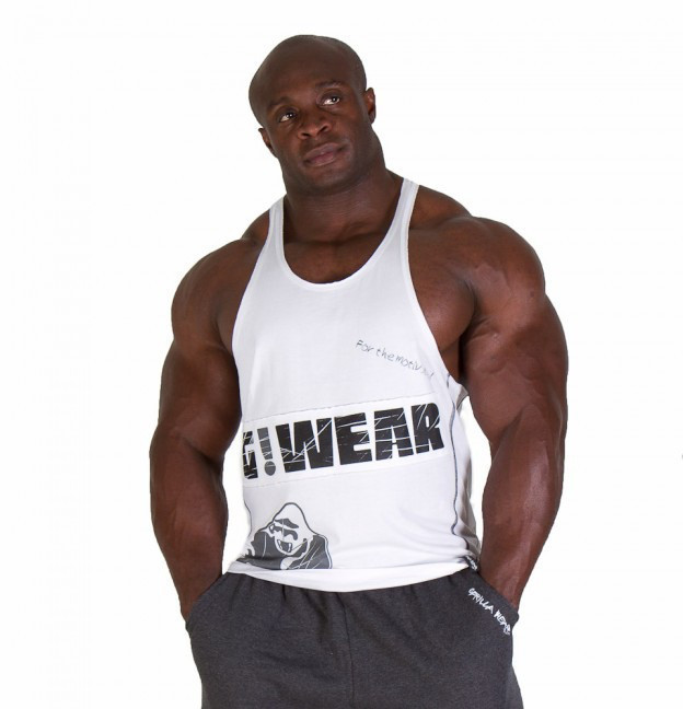 Мужская майка Gorilla wear G!WEAR stringer tank top (White)