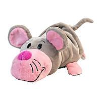 М'яка Іграшка з паєтками 2 В 1 - ZooPrяtki - Кіт - Мишка (30 Cm)