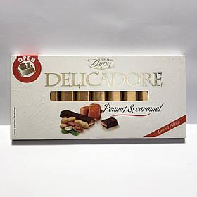 Шоколад темный (полугорький) «Delicadore» Excellent Baron, Peanut & Caramel (арахис и карамель), 200 г.