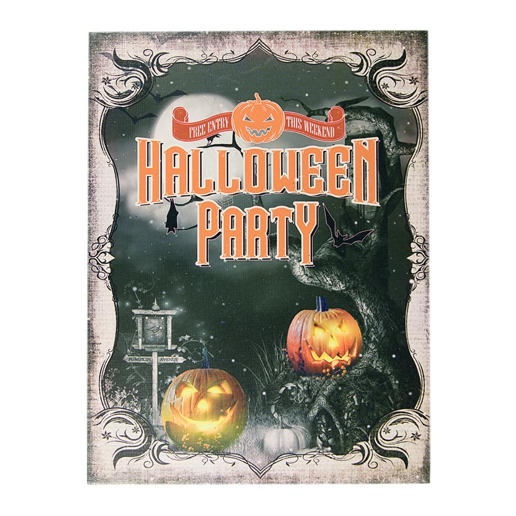 "Картина с подсветкой ""HALLOWEEN PARTY 2 LED"" 40 см 106523"