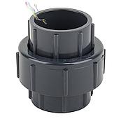 Муфта ПВХ ERA разборная клей-клей, диаметр 50 мм
