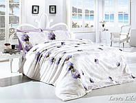 Постельное белье 200х220 ранфорс First Choice Leora lila