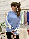 Женский свитер с завязками на рукавах (в расцветках), фото 4