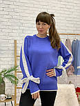 Женский свитер с завязками на рукавах (в расцветках), фото 5
