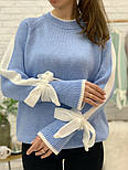 Женский свитер с завязками на рукавах (в расцветках), фото 9