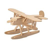 3D Деревянный конструктор. Модель Истребитель-биплан Хейнкель пазл из дерева